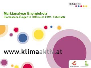 Marktanalyse Energieholz Biomasseheizungen in Österreich 2012 - Foliensatz