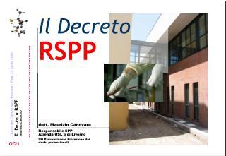 Il Decreto RSPP