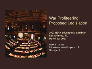 Definitions Background – Excessive Profits Proposed Legislation