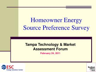 Homeowner Energy Source Preference Survey