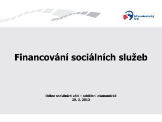Financování sociálních služeb
