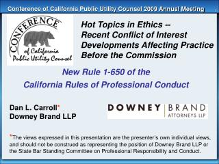 Conference of California Public Utility Counsel 2009 Annual Meeting