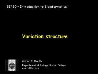 Variation structure