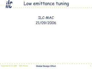 Low emittance tuning