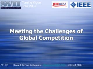 Meeting the Challenges of Global Competition