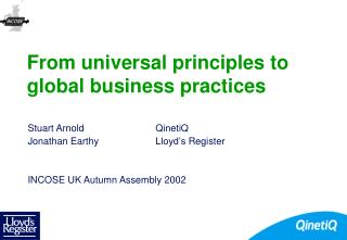 From universal principles to global business practices