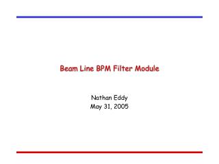 Beam Line BPM Filter Module