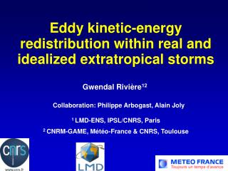 Eddy kinetic-energy redistribution within real and idealized extratropical storms