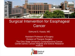 Surgical Intervention for Esophageal Cancer