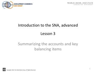 Introduction to the SNA, advanced Lesson 3