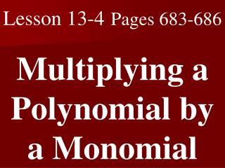 Lesson 13-4 Pages 683-686