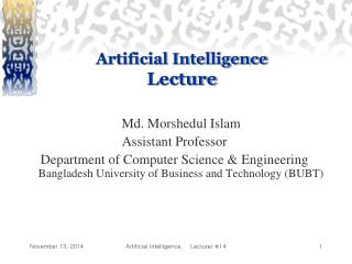 Artificial Intelligence Lecture