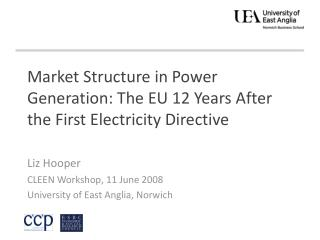 Market Structure in Power Generation: The EU 12 Years After the First Electricity Directive