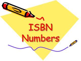 ISBN Numbers