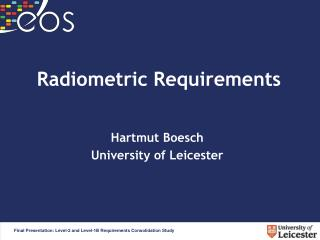 Radiometric Requirements
