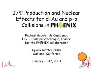 J/   Production and Nuclear Effects for d+Au and p+p Collisions in PHENIX