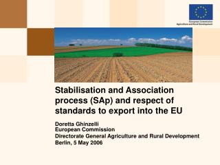 Stabilisation and Association process (SAp) and respect of standards to export into the EU