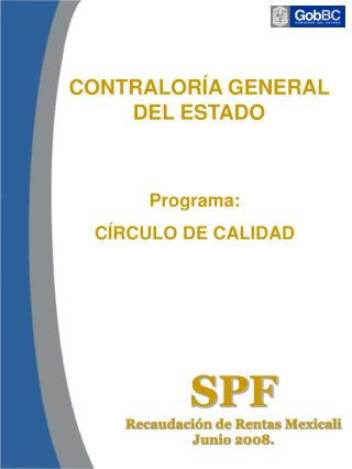 Programa: CÍRCULO DE CALIDAD