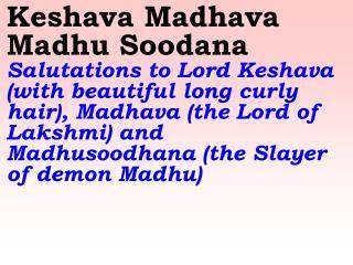 Old 651_New 768 Keshava Madhava Madhu Soodana