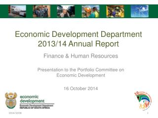 Finance & Human Resources Presentation to the Portfolio Committee on Economic Development