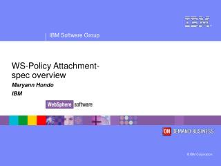 WS-Policy Attachment- spec overview