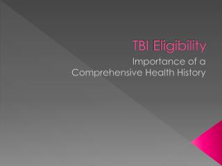 TBI  Eligibility