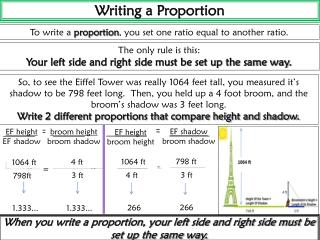 Writing a Proportion