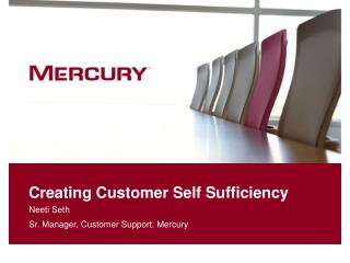 Creating Customer Self Sufficiency
