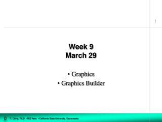 Week 9 March 29