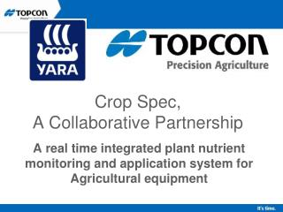 Crop Spec,  A Collaborative Partnership