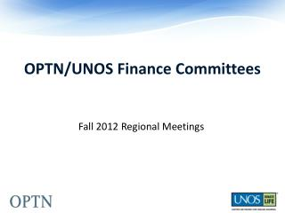 OPTN/UNOS Finance Committees