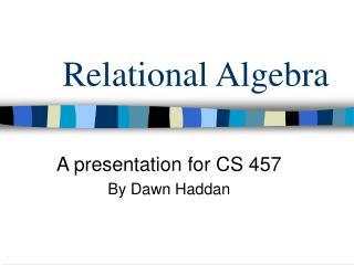 Relational Algebra