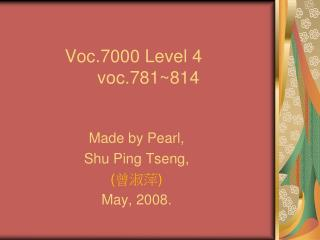 Voc.7000 Level 4       voc.781~814