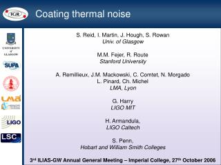 Coating thermal noise