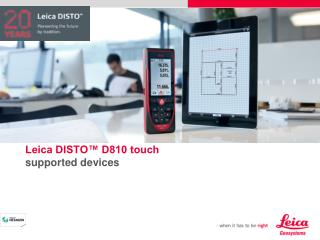 Leica DISTO™ D810 touch supported devices