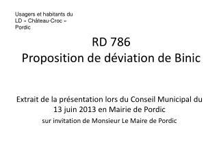 RD 786 Proposition de déviation de Binic