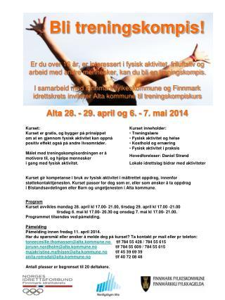 Program Kurset avvikles mandag 28. april kl 17.00- 21.00, tirsdag 29. april kl 17.00 -21.00