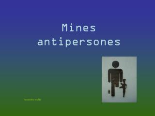 Mines antipersones