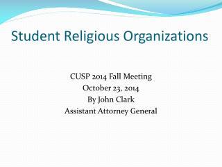 Student Religious Organizations