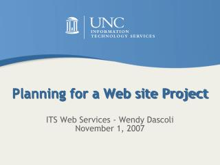 Planning for a Web site Project