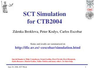 SCT Simulation  for CTB2004