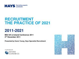 RECRUITMENT  THE PRACTICE OF 2021   2011-2021