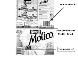 Dois produtos da  Nestl� - Brasil