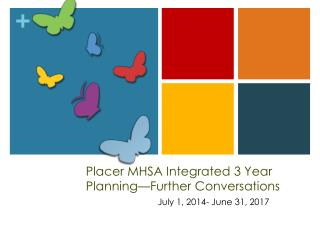 Placer MHSA Integrated 3 Year Planning—Further Conversations