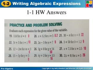 1-1 HW Answers