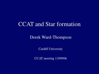 CCAT and Star formation