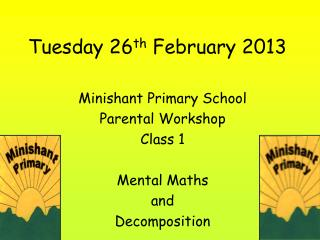 Tuesday 26 th  February 2013