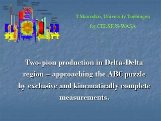 Two-pion production in Delta-Delta region – approaching the ABC puzzle