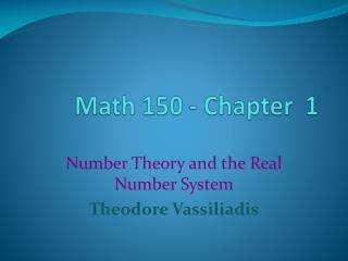 Math 150 - Chapter  1