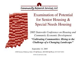 Examination of Potential for Senior Housing & Special Needs Housing